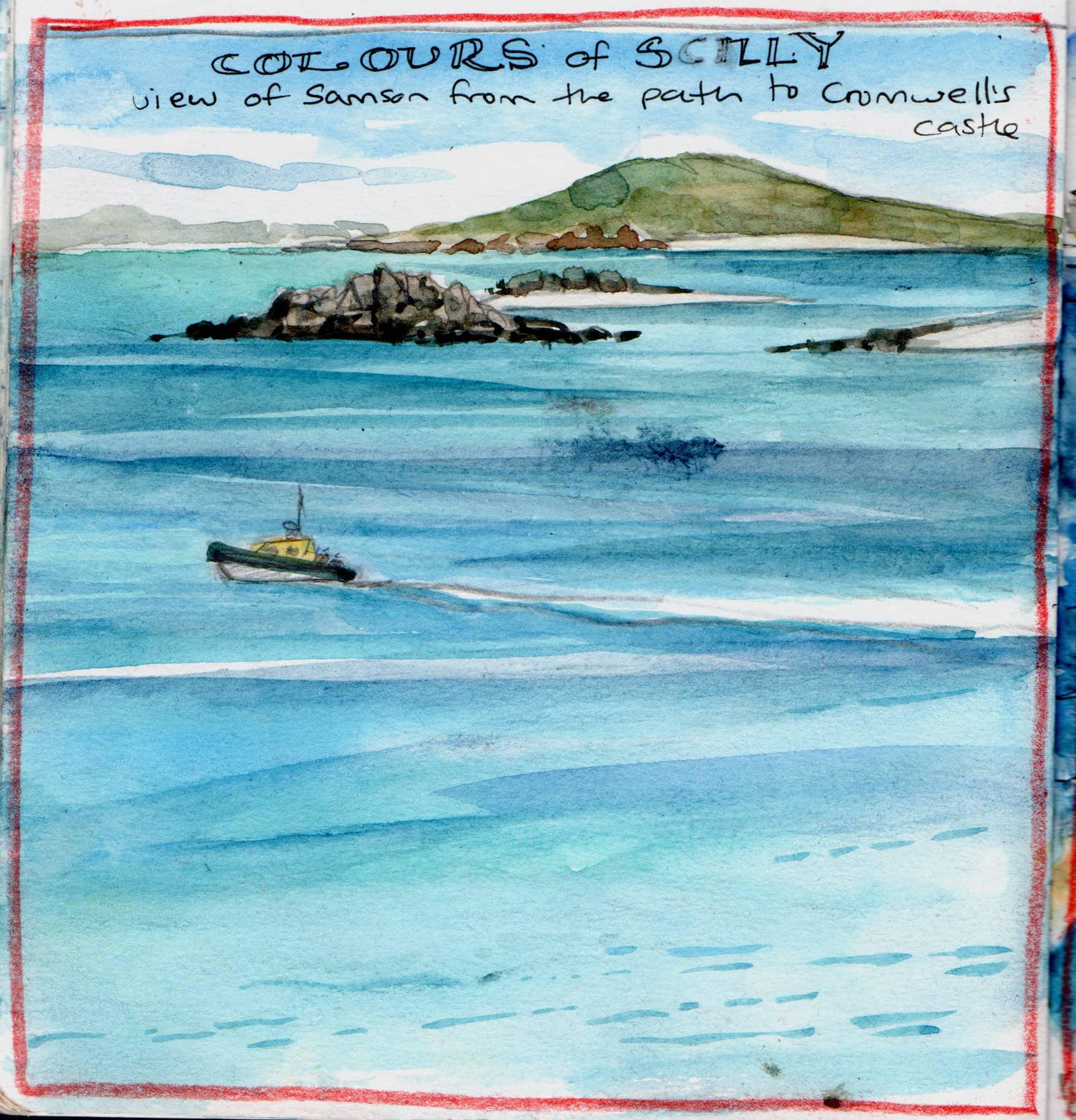 Scilly sketch colours - Claudia Myatt
