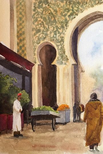 Art Safari Morocco, Inside the Gate, Vicki Norman