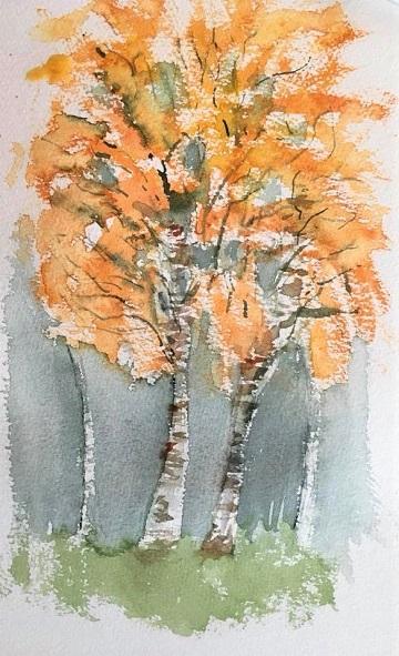 Art Safari Norway, Autumn colours, Karen Pearson