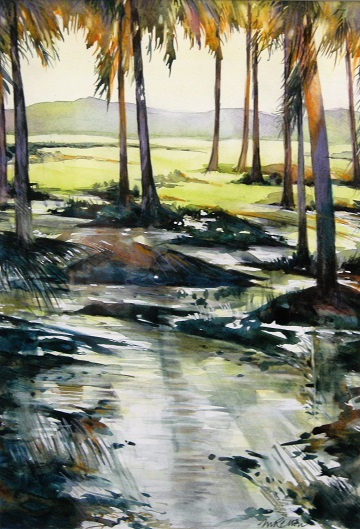 Art Safari South India, Kerala trees, Maxine Relton