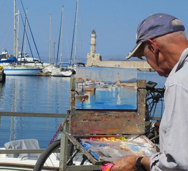 Art Safari Greece, Roger Dellar tutoring in Chania