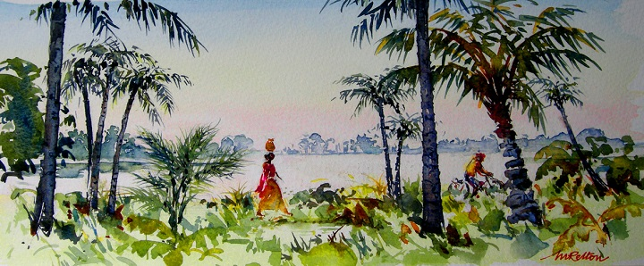 Art Safari South India, Kerala backwaters, Maxine Relton