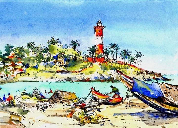 Art Safari South India, Kovalam Beach, Maxine Relton