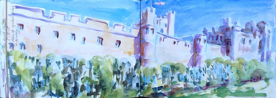 Art Safari Northumberland, Bamburgh Castle, Karen Pearson