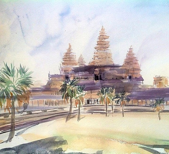 Art Safari Cambodia, Angkor Wat by Mary-Anne Bartlett