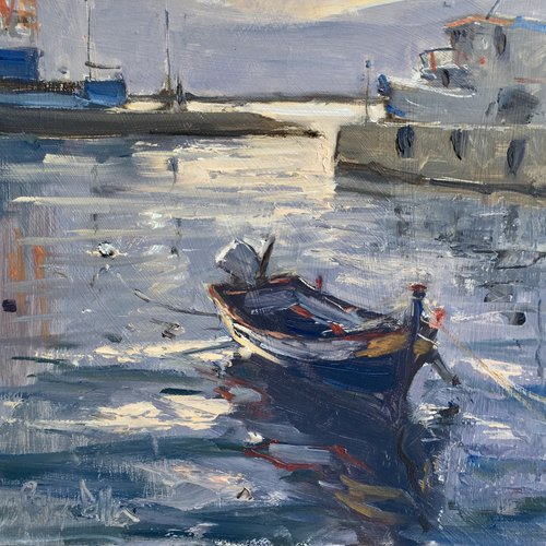 Art Safari, Roger Dellar, Morning in the Harbour