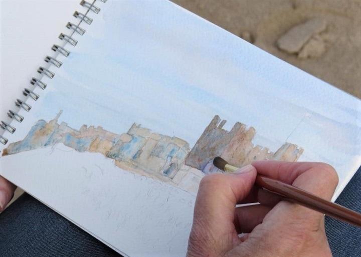 Art Safari Northumberland, Sketch of Bamburgh Castle