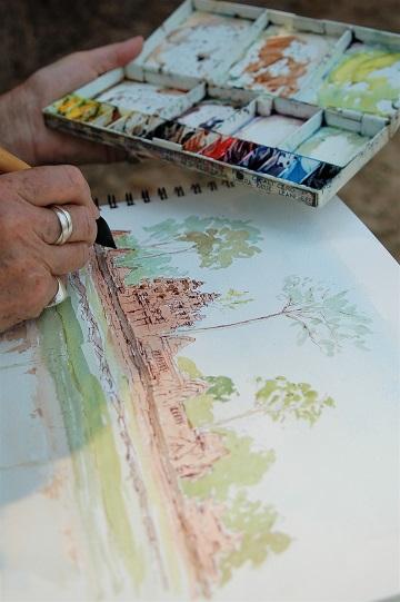 Art Safari, sketching in Cambodia