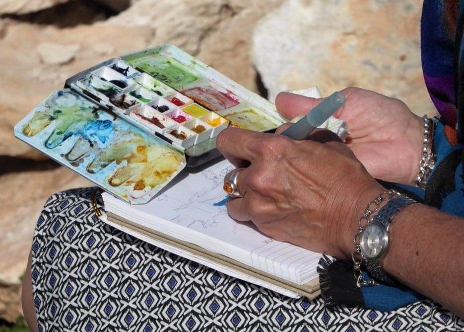 Art Safari Morocco, plein air sketching