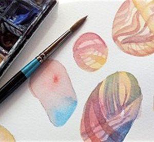 Claudia Myatt, Watercolour pebbles