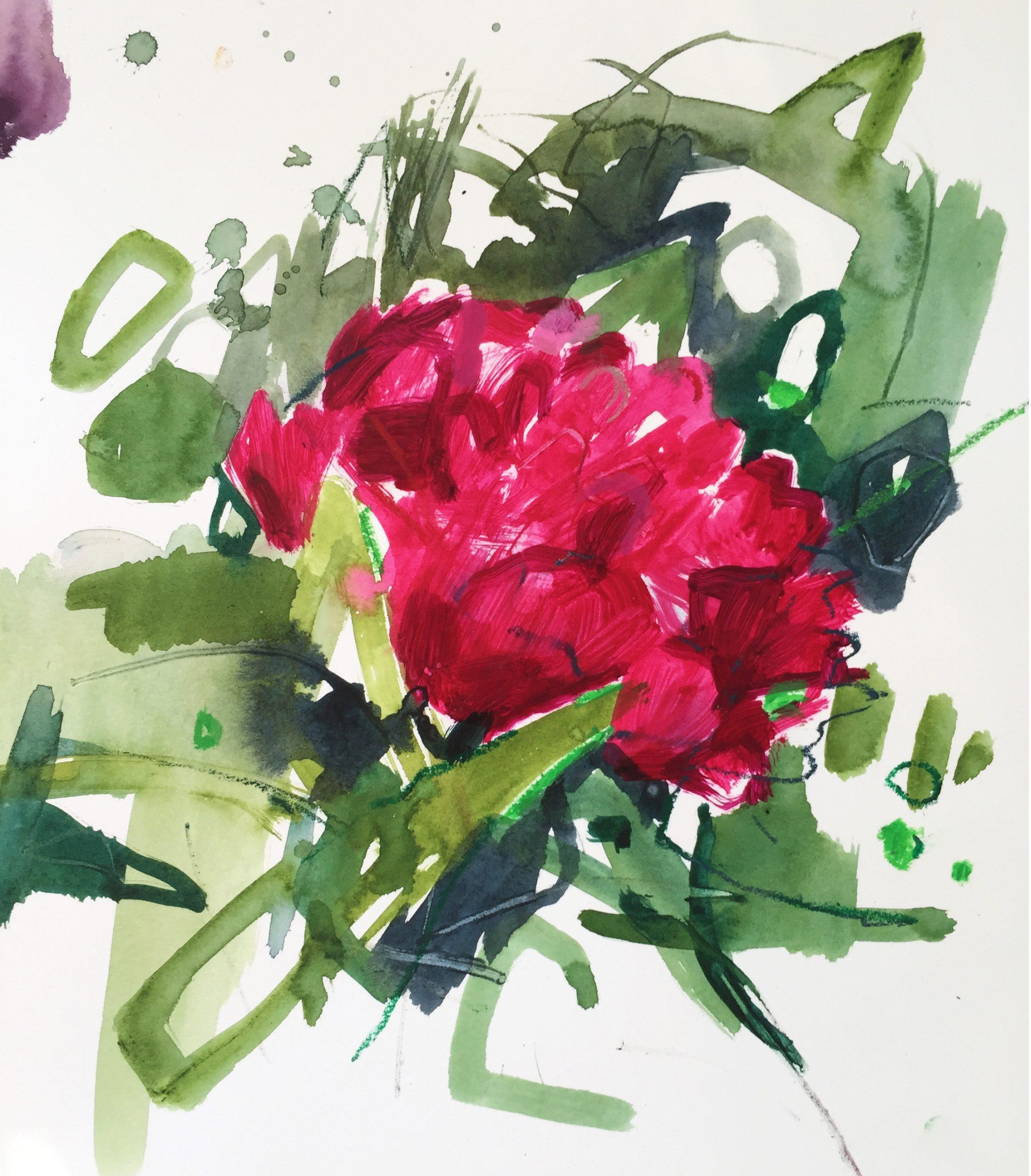 Lorna Hamilton flower sketch