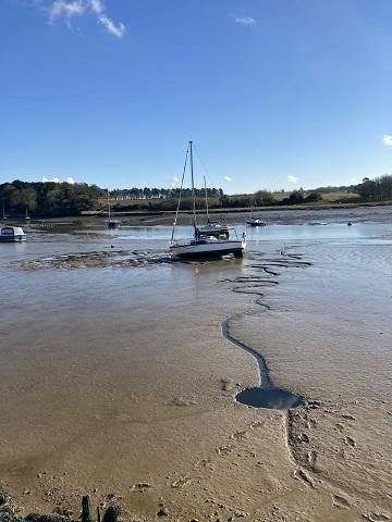 River Deben at low tide