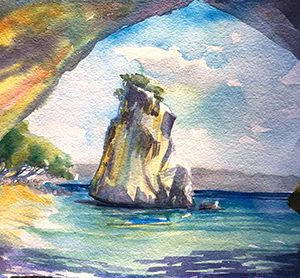 Cathedral Cove by Karen Pearson