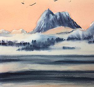 Norway watercolour - Karen Pearson
