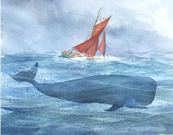 whale and cutter ART SAFARI Claudia Myatt