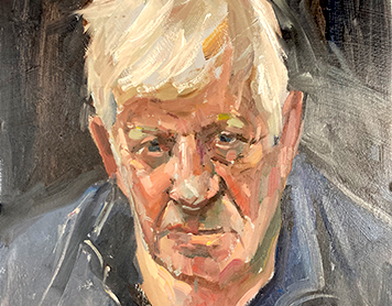 Portrait Painting with Roger Dellar in Suffolk